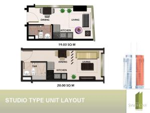 Tower 2 unit lay outs