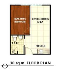 30sqm floor plan